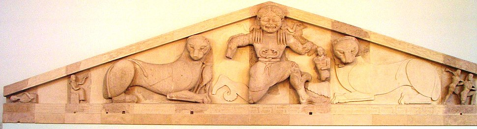 West pediment from the Temple of Artemis in Corfu