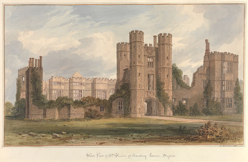 File:West view of the Ruins of Cowdray House, Sussex, by John Buckler.jpg