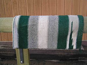 Saddle blanket - A traditionally styled western saddle blanket
