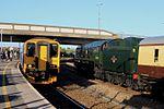 Weston-super-Mare - FGW 150233 passing 34046 Braunton.JPG