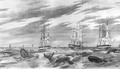 WhalingVoyage ca1848 byRussell and Purrington detail NewBedfordWhalingMuseum8.png