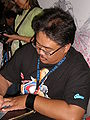 Whilce Portacio at Super-Con 2009 2.JPG