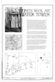 White Rock Mountain Water Tower, Forest Service Road 1505, Fern, Franklin County, AR HABS ARK,24-FERN,1- (sheet 1 of 6).png