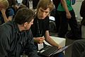 Wikimania 2009 - Chatting (2).jpg