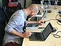 Wikimedia CH team at work MAMCO Geneva 005.jpg