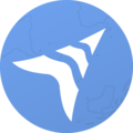 Wikivoyage Logo Idea - continent contour and gradient.png
