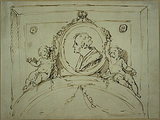 Design for a door ornament with medallion