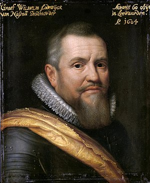 Twelve Years' Truce - The Frisian Stadtholder Count William Louis by Michiel Jansz. van Mierevelt.