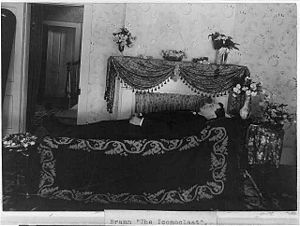 William Cowper Brann - Brann at a funeral parlor