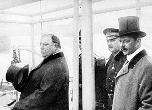 George von Lengerke Meyer - At naval review in New York Harbor with President Taft and Capt. A. W. Butt