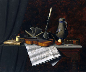 William Harnett - William Michael Harnett - Still Life with the Toledo Blade