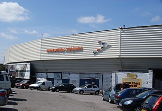 Wimbledon Stadium greyhound racing track located in Wimbledon in southwest London, England