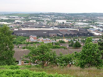 Lower Don Valley - View of the Don Valley from Wincobank Fort
