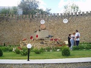 Mileștii Mici (winery) - Wine fountain at Mileștii Mici