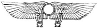 The winged sun was an ancient (3rd millennium BC) symbol of Horus, later identified with Ra