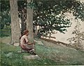 Winslow Homer - Girl Seated on Hillside Overlooking the Water.jpg