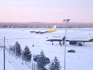 Rovaniemi Airport - Winter Solstice 2004 at Rovaniemi Airport, Arctic Circle