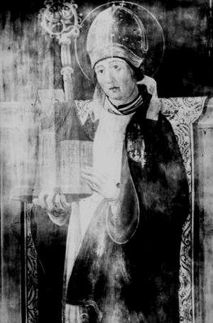 Wolfgang of Regensburg - Saint Wolfgang altar painting, c.1490
