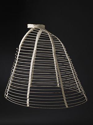 Crinoline - Cage crinoline with steel hoops, 1865 (LACMA)