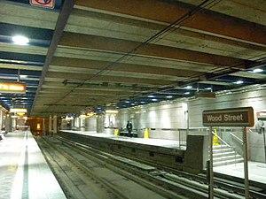 Wood Street (PAT station) - Image: Wood Street PAT north plat jeh