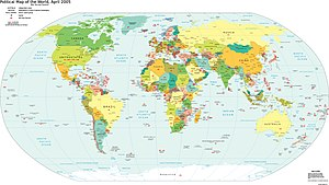 World Map Politic 2005 with ccTLDs - LQ version