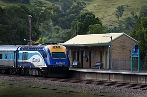 Gloucester, New South Wales - XPT departs Gloucester station