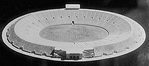 Yale Bowl - Image: Yale Bowl 1914 Model