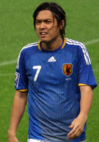 Yasuhito Endō against Bahrain June 22 2008.png
