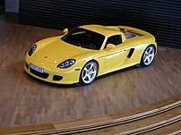 Yellow Porsche Carrera GT with Hardtop (US Ver...