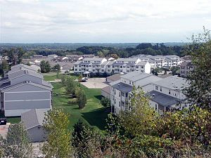 Comstock Park, Michigan - One of Comstock Park's many sprawling apartment complexes.