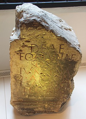 Quintus Antonius Isauricus - The altar on display in the Yorkshire Museum