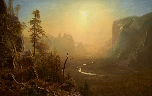 Yosemite Valley Glacier Point Trail by Albert Bierstadt