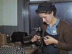 Young woman filing small parts at Vilter Manufacturing Company (1943).jpg