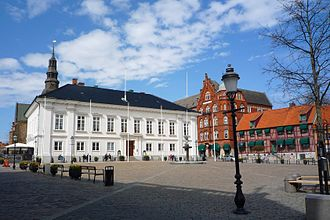 Ystad - Main square with town hall