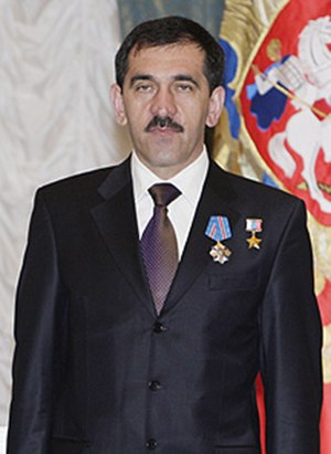 Yunus-bek Yevkurov - Yunus-bek Yevkurov after receiving the Order of Military Merit award in 2009.