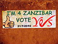 Zanzibar referendum Yes vote poster.jpg