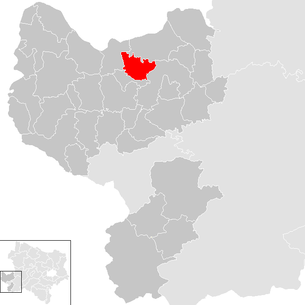 Location of the municipality of Zeillern in the district of Amstetten (clickable map)