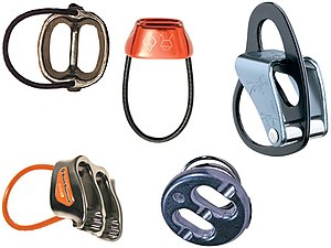 Belay device - A variety of belay devices.