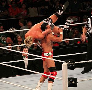 DDT (professional wrestling) - Dolph Ziggler performing the Jumping DDT