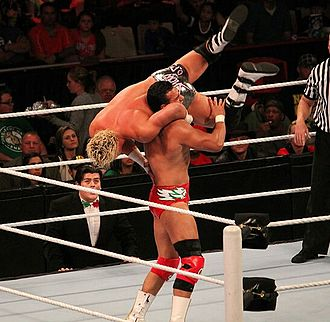DDT (professional wrestling) - Dolph Ziggler performing the Jumping DDT on Alberto Del Rio