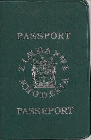 Rhodesian passport - Zimbabwe Rhodesia Passport (1979)