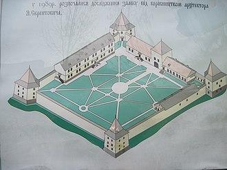 Zoloty Potik castle - Castle schema