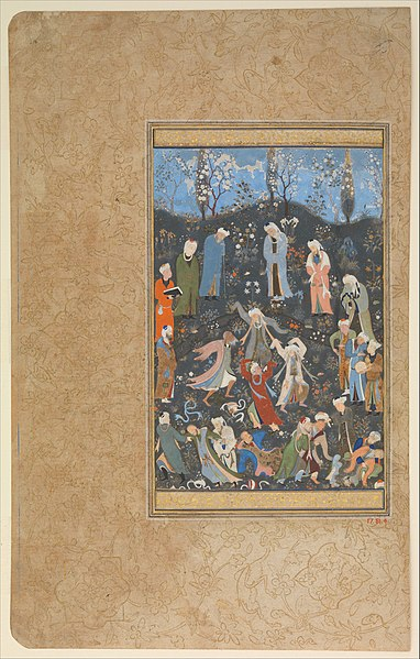 File dancing dervishes folio from a divan of hafiz met for Divan of hafiz
