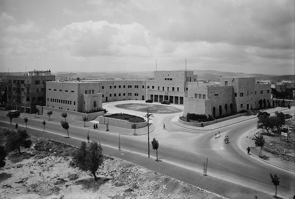 'Golden books' of Honour. Records stored in Zionist Executive bldgs. on King George Ave., Jer. (i.e., Jerusalem) Zionist Executive bldgs. LOC matpc.03767