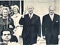 (Left) Federal president of Germany Lübke and Representative of the Federal president Albert Einsiedler (right).jpg