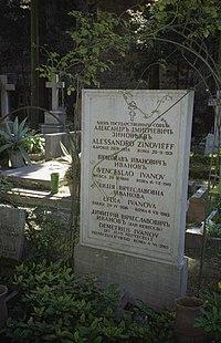 §Ivanov, Vjacheslav (1866-1949) - Tomba al Cimitero acattolico, Roma - Foto di Massimo Consoli 01-4-2006 01