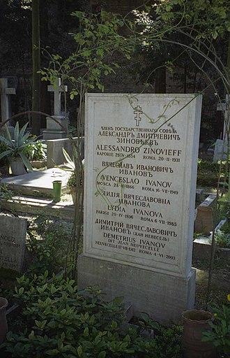 Vyacheslav Ivanov (poet) - Ivanov's grave in Rome.