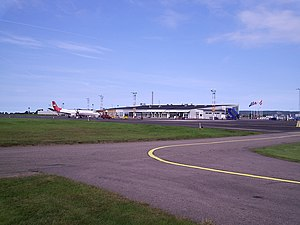 Ängelholm–Helsingborg Airport - Image: Ängelholm airport overview 2