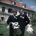 Ženin in nevesta iz Rakovca na poroki v Vitanju 1963.jpg