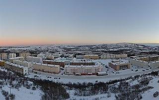 Zaozyorsk Town in Murmansk Oblast, Russia